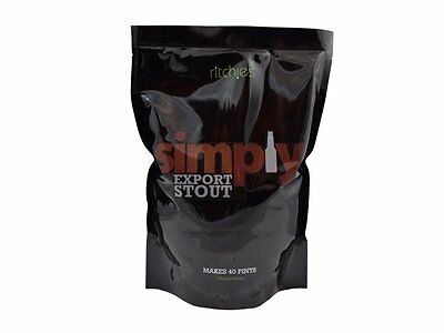 Simply Export Stout Beer Kit Homebrew 1.8Kg Makes 23 Litres 40 Pints Home Brew