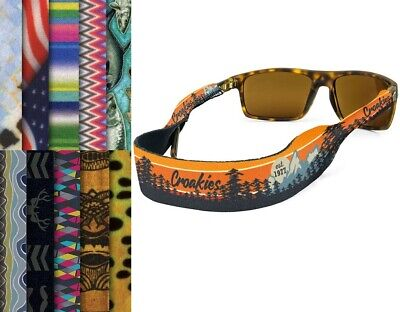 "CROAKIES 3/4"" Printed Neoprene Eyewear Sunglasses Retainer Strap NWT Screenprint"