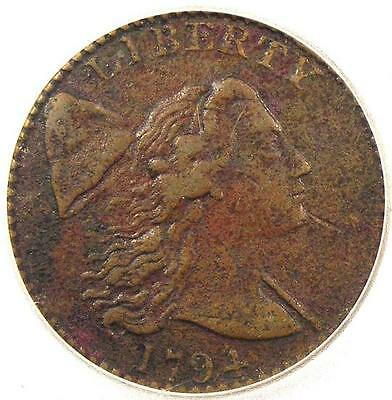 1794 Liberty Cap Large Cent 1C S-41 R3 - ICG VF30 - Rare Certified Penny