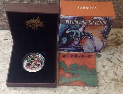 2012 $1 .999 Fine Silver Proof Coin Lunar Year Of The Dragon Australian Mint OMP