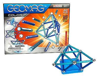 Geomag 40-Piece Color Construction Set with Assorted Panels - Mentally Stimulati