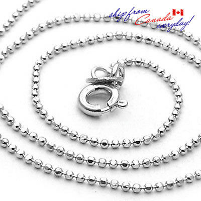 """Unique S925 Sterling Silver Unisex Beads Necklace Chain/20""""22""""/Free Shipping"""