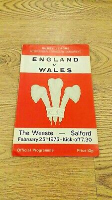 England v Wales 1975 Rugby League Programme