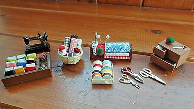 1.12 Dolls House Handmade Sewing Accessories for the Haberdashery Shop (2)