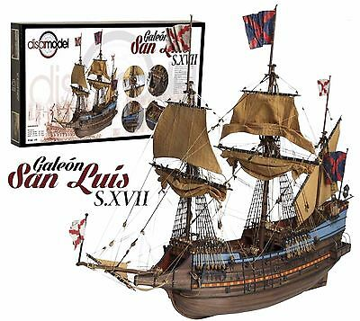 "Exquisite, New Wooden Model Ship Kit by Disar: the ""Galleon San Luis S.XVII"""