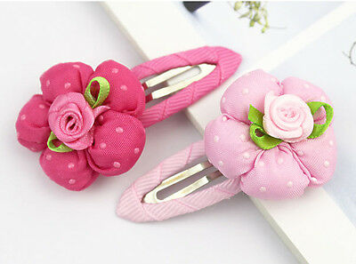 One Hot Pink Girl baby boutique flower Hair clips Accessories Kids Hairpin