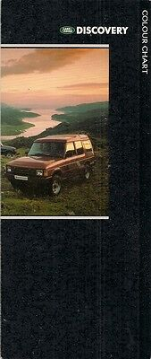 Land Rover Discovery Exterior Colours & Graphics 1989-90 UK Market Brochure