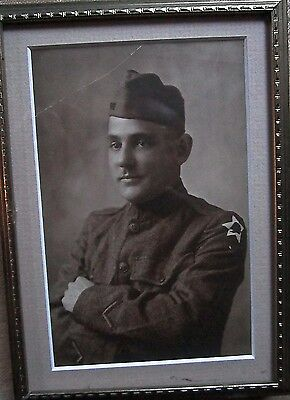 Ww1 Us Army Second Division Portrait Original Photograph New Lower Price!