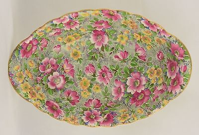 Vintage Lord Nelson Ware BCM Briar Rose Chintz Pattern Dish