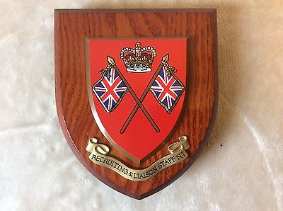 Vintage Plaque / Shield - RECRUITING AND LIAISON STAFF N.I.