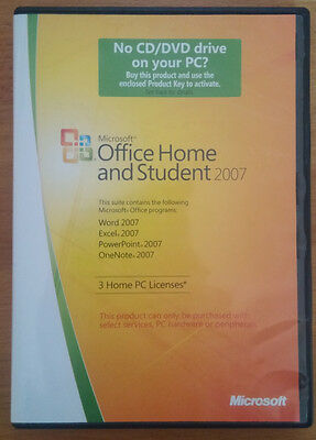 Microsoft Office 2007 Home and Student Genuine- Excel, Word - 3 Product Keys