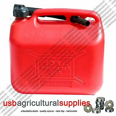 Fuel Can Tank 10L Ten Litre Red Plastic Petrol Water Diesel Container