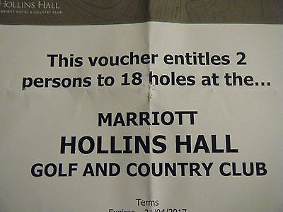 Round For 2 At The Marriott Hollins Hall Golf And Country Club. Superb Course.