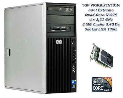 HP Z400 Intel Extreme Quad-Core i7-975 4x 3,33 GHz, 500GB HDD, 16GB RAM DDR3