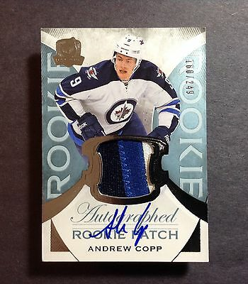 2015-16 The Cup Andrew Copp 160/249 Rookie 3 CLR Auto Patch #119 Upper Deck RC