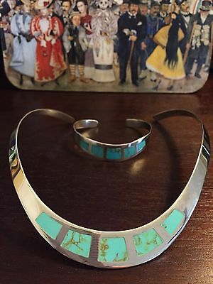 Mexican Jewelry Set Sterling Silver 925 And Turquoise New!