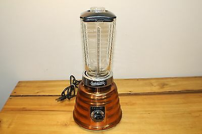 Vintage Osterizer Deluxe Copper Beehive Blender Model 403 2 Speed
