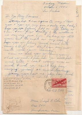 WWII Letter. 770th Bomb Squadron. 462nd Bomb Group. B-29 campaign against Japan