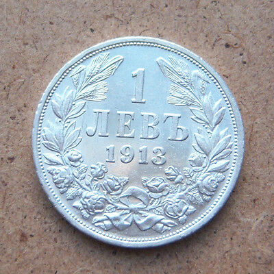 1913- Silver 1 lev, Bulgaria, excellent coin collection  #2