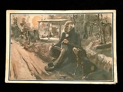 Black Americana Victorian Trade Card Little Old Log Cabin in the Lane Alma Gluck