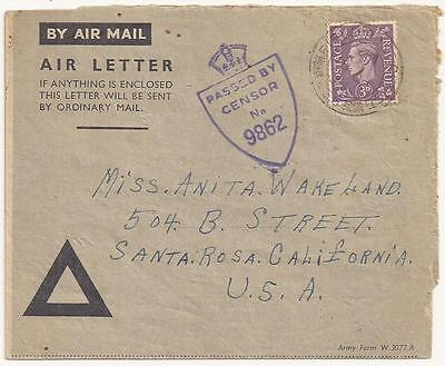 WWII Frontline Letter, Royal Artillery. 1943 Italy. 166th Newfoundland Regiment.