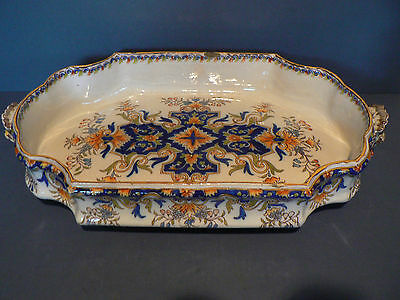 Antique French Faience Large Serving Dish