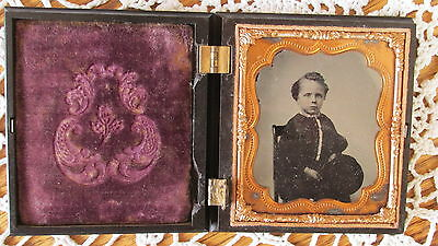 Ambrotype Of William F. Woodward On Sixth Plate With Gutta Percha Case