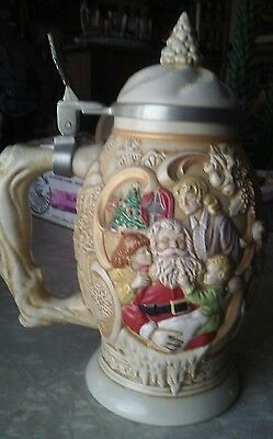 avon father christmas stein from 1994