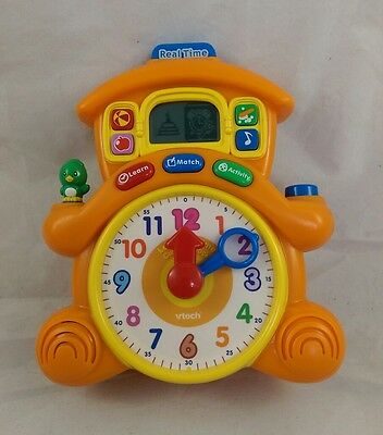 Chirpy Chirpie My First Cuckoo Clock Vtech Orange Learning Interactive Toy WORKS