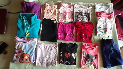 Lot 16 vetements - fille - 4 ans- excellent etat -