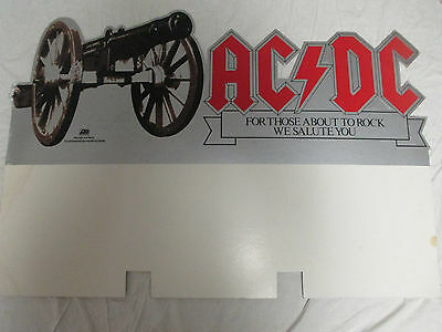 """ACDC For Those About To Rock We Salute You LARGE Promotional LP divider 36""""Wx25"""""""