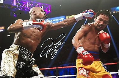 Boxing Welterweight Floyd Mayweather Original Hand Signed Photo 30x20cm With COA