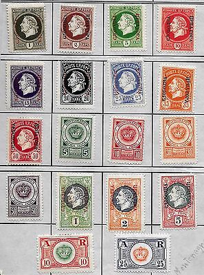 MONTENEGRO, Government in EXILE 1921 LOT of 18 CINDERELLAS, MH
