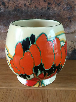 Magnificent Clarice Cliff 1933 Solitude Patterned Humpty Footed Bowl