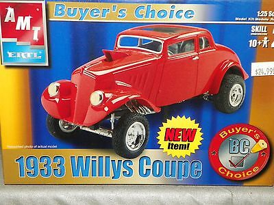 "AMT 1/25 1933 WILLYS COUPE ""BUYER'S CHOICE"" Plastic Model Kit  #31227 NIB"