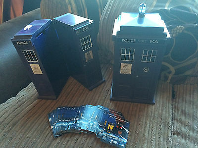 DR WHO MONSTER INVASION CARDS x 66, and Tardis Card Holder minus the lamp on top