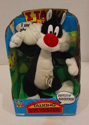 Tyco Squeeze Me Talking Sylvester Toy Looney Tunes Warner New