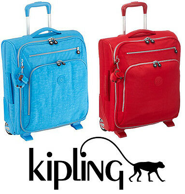 KIPLING Trolley Youri 50 azzurro o Rosso Cabin bag 50x40x20 29L OUTLET 60% € 149