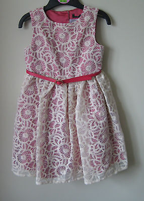 New Marks & Spencer M&S Autograph Party Dress Lace effect 3-4 years wedding