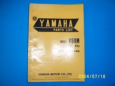 YAMAHA V50M type 1E9  PARTS BOOK  V50M 1E9 1977  UNUSED