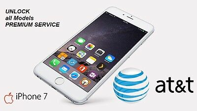 PREMIUM FACTORY UNLOCK SERVICE FAST 24h ONLY AT&T USA CARRIER IPHONE 7 ALL MODEL