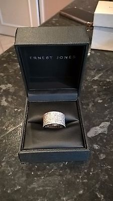 18ct White Gold 1 Carat Diamond Band Ring