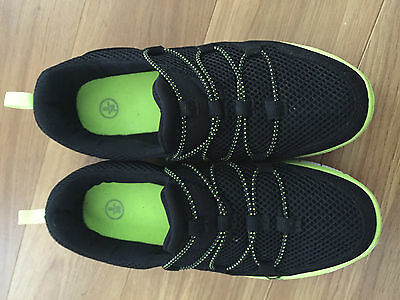 Ladies black/green casual shoes size 5 UK 38
