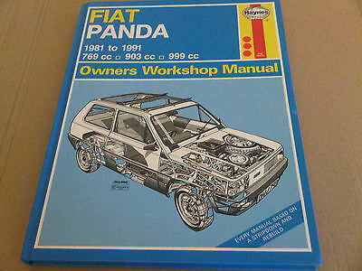 FIAT Panda 1981 to 1991 Haynes Owners Workshop Manual