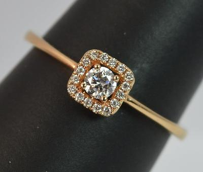 VS1 Diamond and 18ct Rose Gold Cluster or Stack Ring d0714
