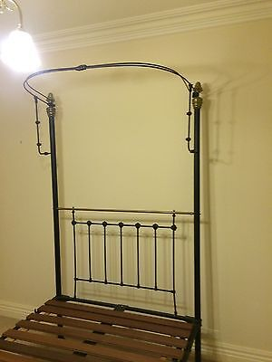 Antique Brass And Iron Double Bed