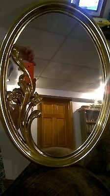 Home Interiors Gold Oval Resin'' MIRROR