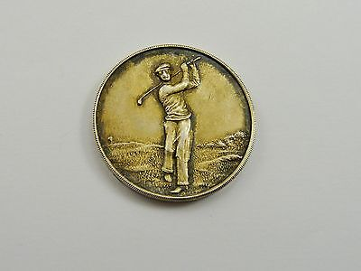 Original 1962 Solid Silver News Of The World Golf Medal N.a. Vaughan