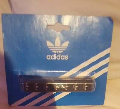 Adidas black laces trainers