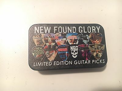 2016 LIMITED EDITION New Found Glory Guitar Pick Tin Set Of 6